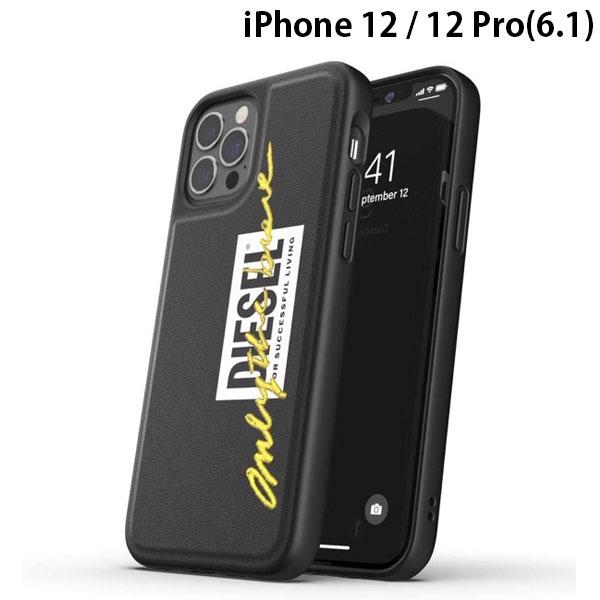 DIESEL iPhone 12 / 12 Pro Moulded Case Core FW20 Black/Lime
