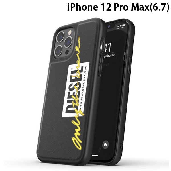 DIESEL iPhone 12 Pro Max Moulded Case Core FW20 Black/Lime
