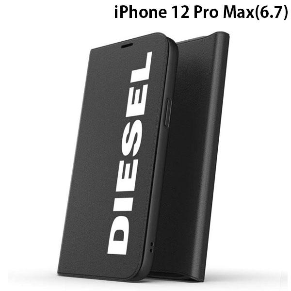 DIESEL iPhone 12 Pro Max Booklet Case Core FW20 Black/White