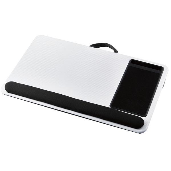 エレコム ラップトップテーブル スマホスタンド付き17.3インチノートパソコン ホワイト