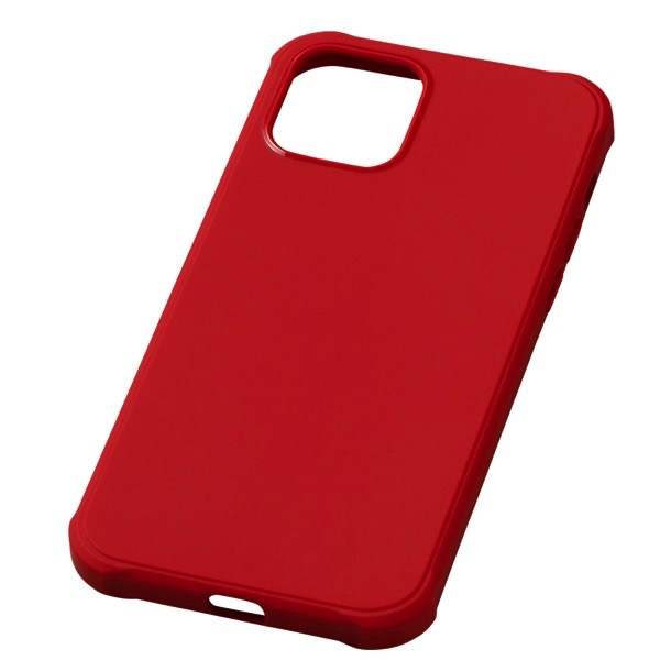 Deff iPhone 12 / 12 Pro CRYTONE TESiV Clean Case 抗菌 レッド