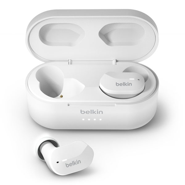 BELKIN SOUNDFORM Bluetooth 5.0 完全ワイヤレスイヤホン IPX5 防滴 ホワイト