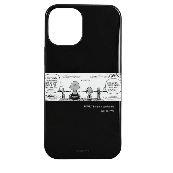 gourmandise iPhone 12 mini ソフトケース ピーナッツ 後姿