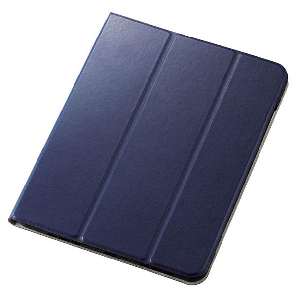エレコム 10.9インチ iPad Air 第4世代 手帳型 レザーケース 360度回転 スリープ対応 Apple Pencil収納 ネイビー