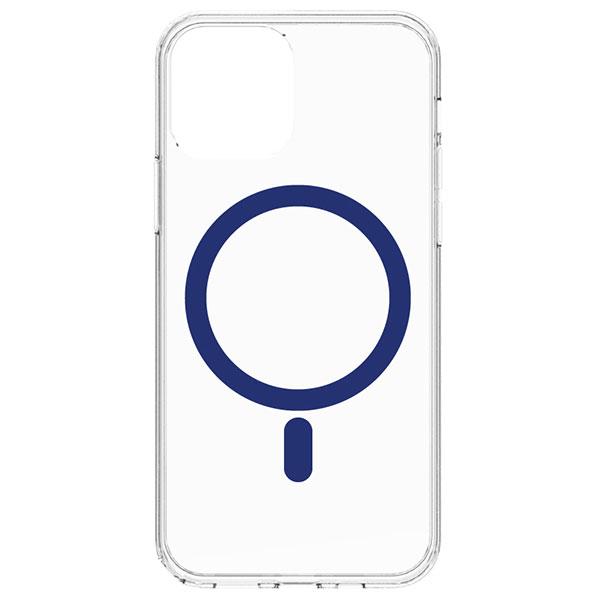 Simplism iPhone 12 mini [Turtle] MagSafe対応 ハイブリッドクリアケース ネイビーライン