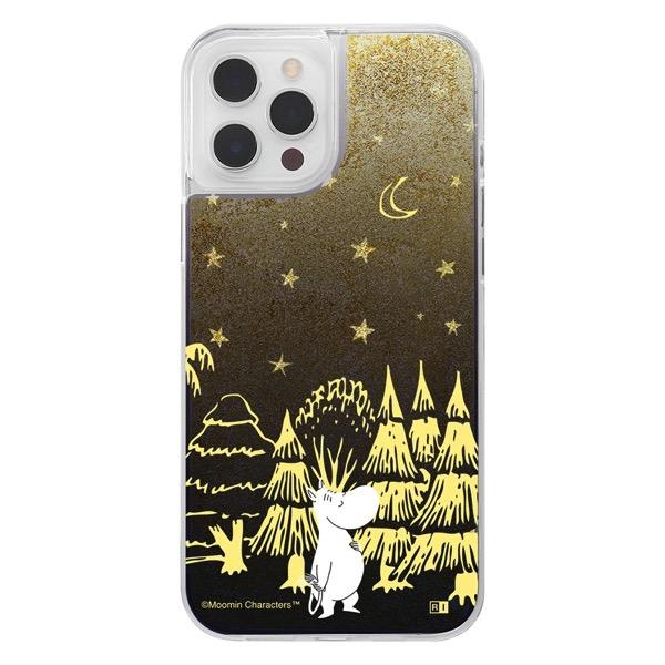 ingrem iPhone 12 Pro Max ムーミン ラメ グリッターケース ムーミン IJ-AP28LG1G/MT001