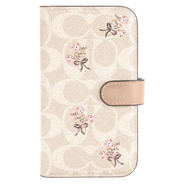 COACH iPhone 12 Pro Max Folio Case Floral Bow Signature C Sand CIPH-075-FBWSD