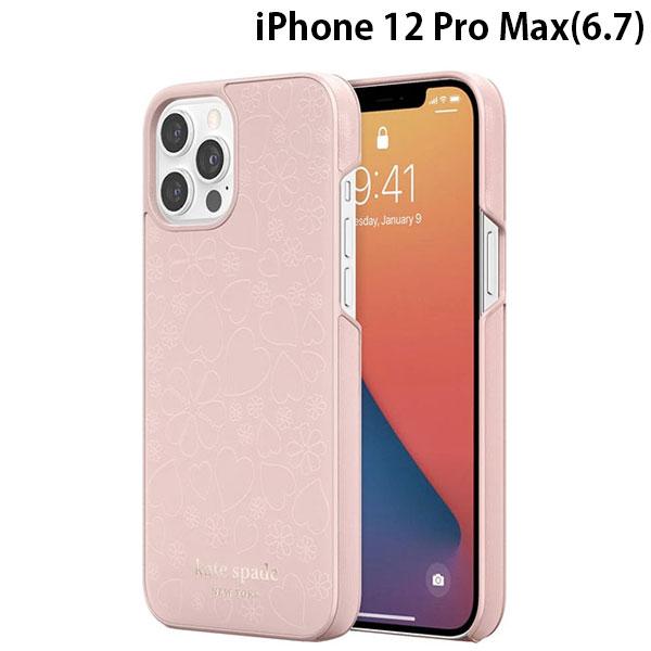kate spade new york iPhone 12 Pro Max Wrap Case Pale Vellum Crumbs KSIPH-166-CHPVM