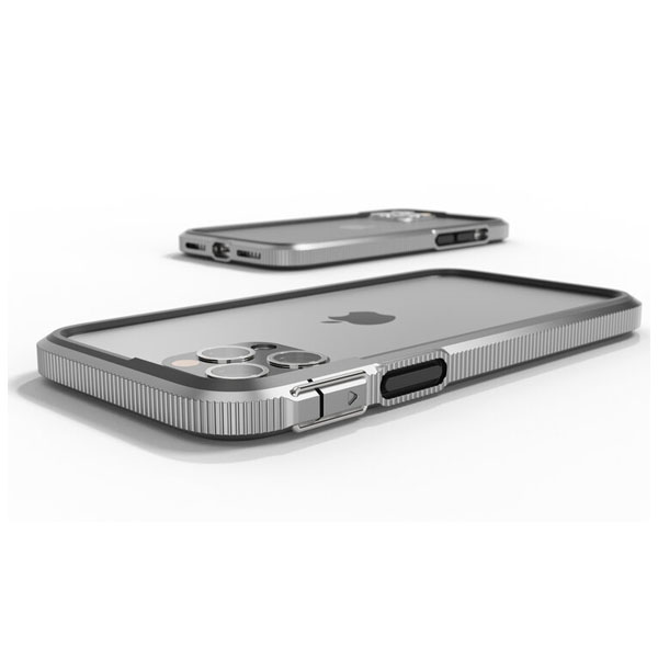 SHOCKLAYER iPhone 12 / 12 Pro XTREME バンパーケース Gunmetal Silver