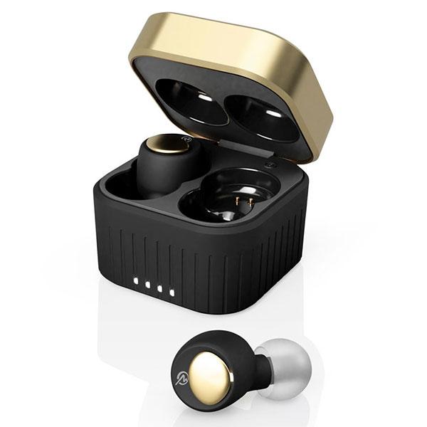 M-SOUNDS MS-TW22 Bluetooth 5.1対応 IP54 防水 完全ワイヤレスイヤホン Jet Black×Gold