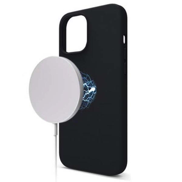 elago iPhone 12 Pro Max MagSafe SOFT SILICONE CASE Black EL_ILLCSSCMS_BK