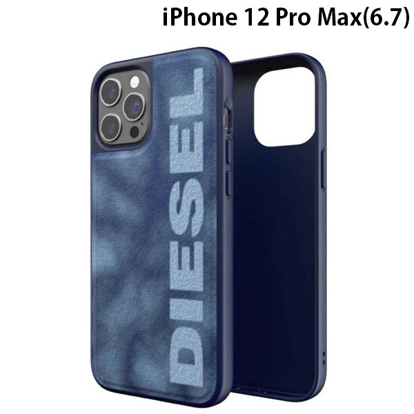 DIESEL iPhone 12 Pro Max Moulded Case Bleached Denim SS21 Blue/White 44301