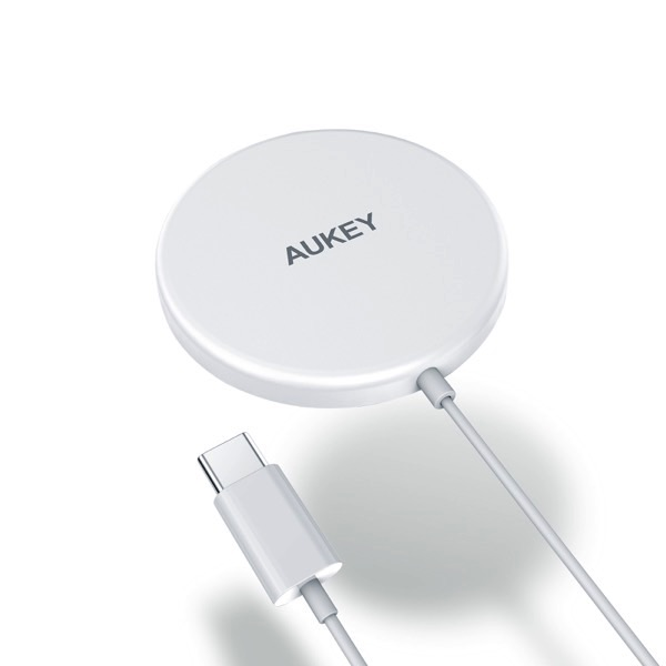 AUKEY ワイヤレス充電器 MagSafe吸着対応 Aircore 15W ホワイト