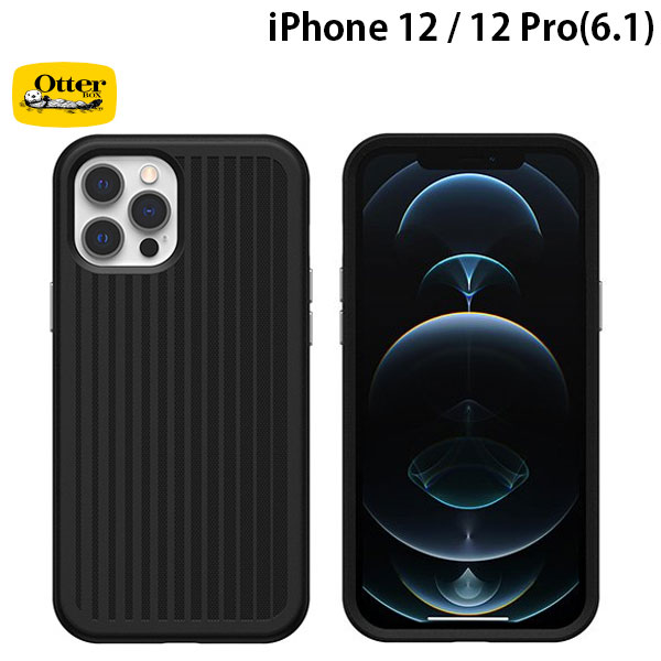 OtterBox iPhone 12 / 12 Pro Easy Grip Gaming 抗菌 耐衝撃ケース Squid Ink Black