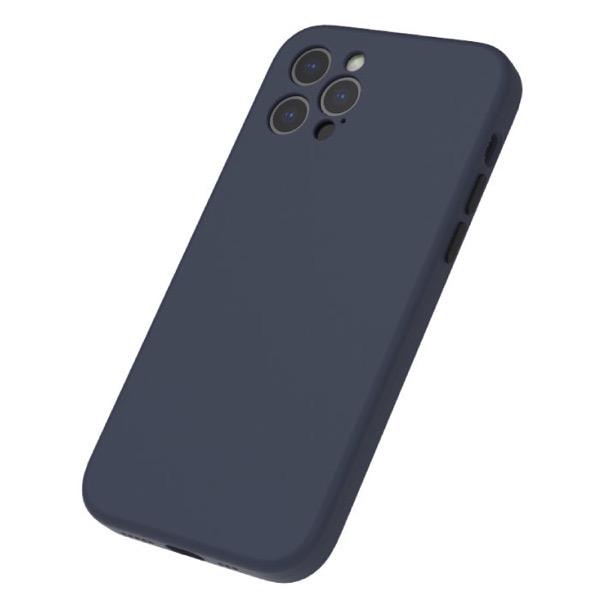 Simplism iPhone 12 Pro [Full Cushion Plus] MagSafe対応 超精密設計 シリコンケース ネイビー
