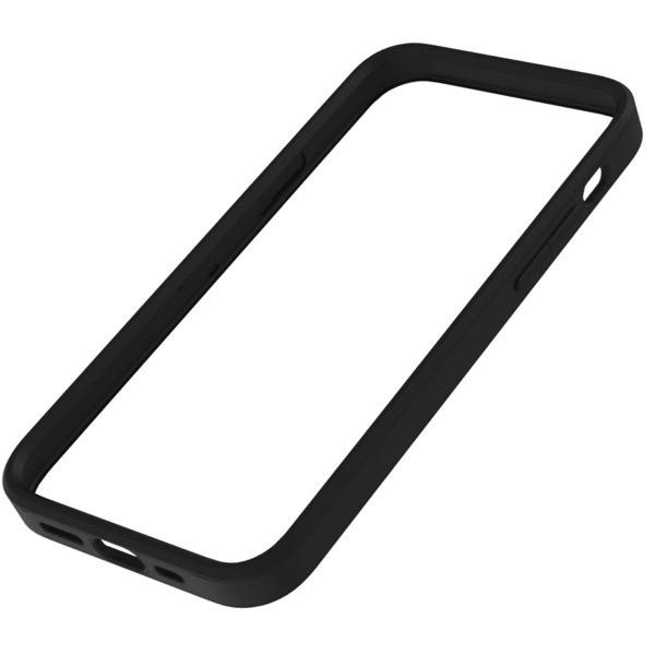 Simplism iPhone 12 mini [ALINE] 衝撃吸収 バンパーケース クラリーノ スムースブラック