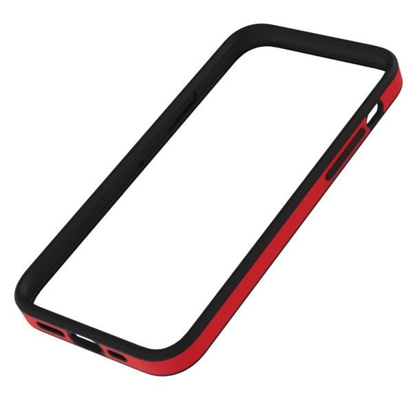 Simplism iPhone 12 mini [ALINE] 衝撃吸収 バンパーケース クラリーノ スムースレッド