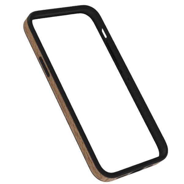Simplism iPhone 12 mini [ALINE] 衝撃吸収 バンパーケース 天然木シート ケバンス