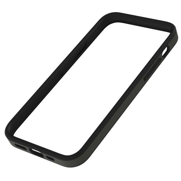 Simplism iPhone 12 / 12 Pro [ALINE] 衝撃吸収 バンパーケース クラリーノ スムースカーキ