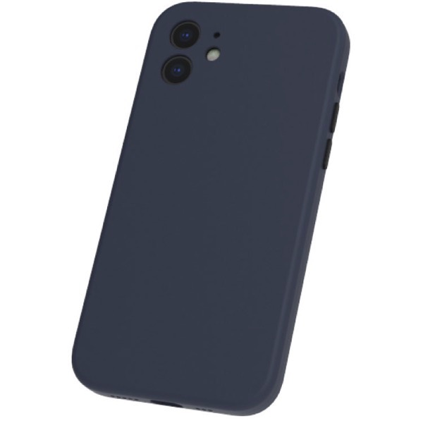 Simplism iPhone 12 [Full Cushion] 超精密設計 シリコンケース ネイビー