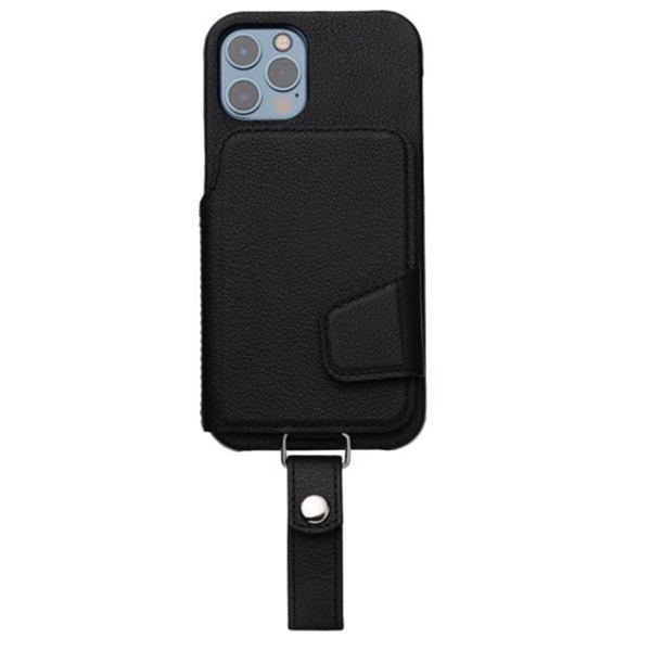 RAKUNI iPhone 12 / 12 Pro Leather Case Magsafe対応 本革 ピュアブラック