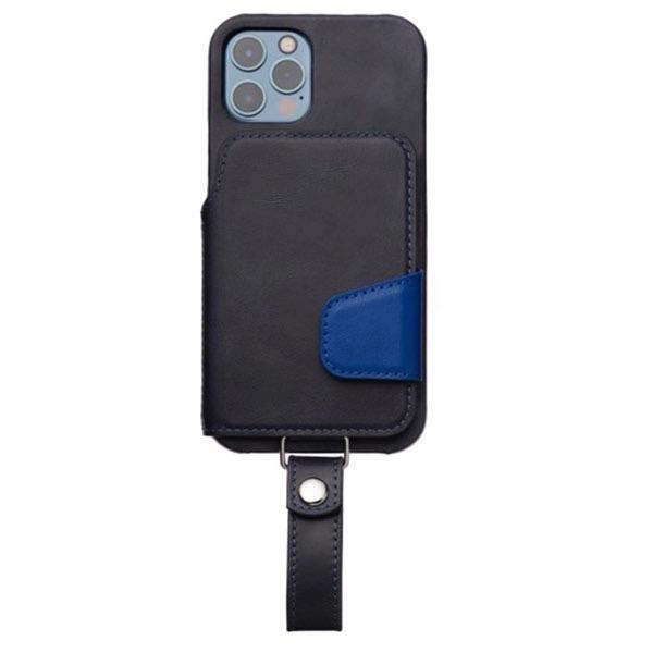 RAKUNI iPhone 12 / 12 Pro Leather Case Magsafe対応 本革 ネイビーブルー