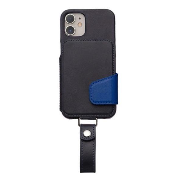 RAKUNI iPhone 12 mini Leather Case Magsafe対応 本革 ネイビーブルー