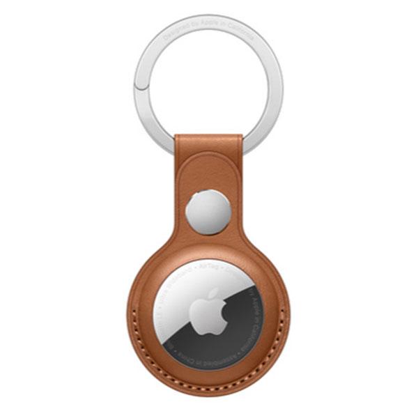 Apple AirTag レザーキーリング - サドルブラウン MX4M2FE/A