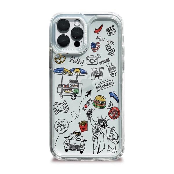 Dparks iPhone 12 / 12 Pro スピリットPLUS クリアケース I LOVE NEWYORK DS20578i12P