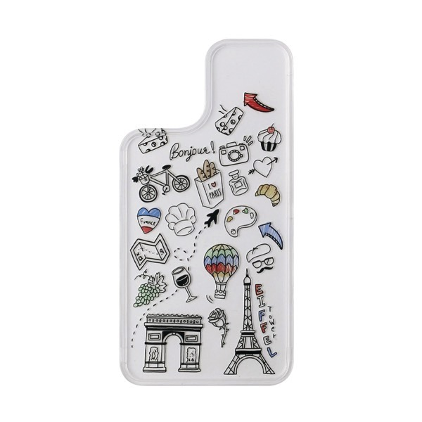 Dparks iPhone 12 / 12 Pro きせかえ用背面パネル I LOVE PARIS