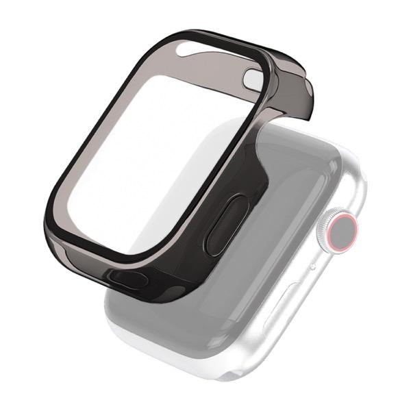 エレコム Apple Watch 40mm Series 4 / 5 / 6 / SE フルカバー ハイブリッドケース クリアブラック