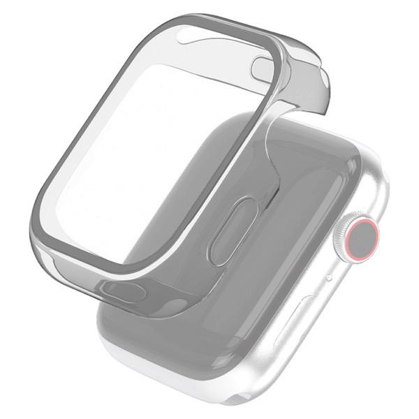 エレコム Apple Watch 44mm Series 4 / 5 / 6 / SE フルカバー ハイブリッドケース クリア