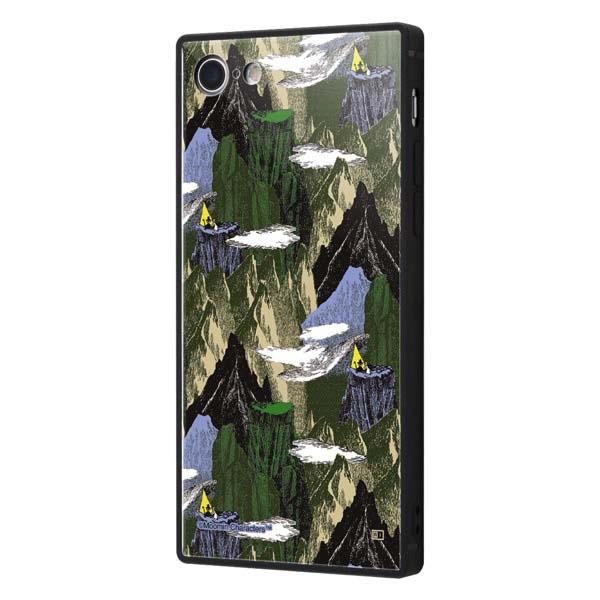 ingrem iPhone SE 第2世代 / 8 / 7 ムーミン 耐衝撃ケース KAKU トリプルハイブリッド OUTDOORS 山脈緑 IQ-AP7K3B/MT9