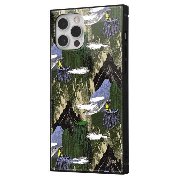 ingrem iPhone 12 / 12 Pro ムーミン 耐衝撃ハイブリッドケース KAKU OUTDOORS 山脈緑