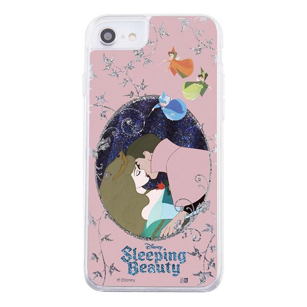 ingrem iPhone SE 第2世代 / 8 / 7 / 6s / 6 ディズニーキャラクター ラメ グリッターケース 眠れる森の美女 オーロラ姫と王子 IJ-DP76LG1S/AU4