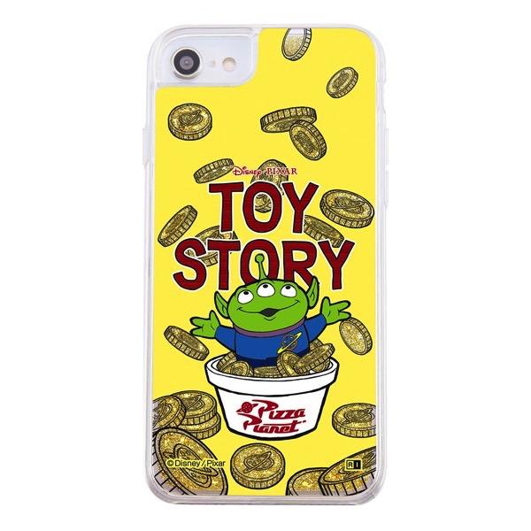 ingrem iPhone SE 第2世代 / 8 / 7 / 6s / 6 ディズニー・ピクサーキャラクター ラメ グリッターケース エイリアン IJ-DP76LG1G/TY5