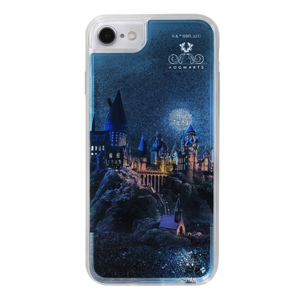 ingrem iPhone SE 第2世代 / 8 / 7 / 6s / 6 ハリー・ポッター ラメ グリッターケース ホグワーツ魔法魔術学校 IJ-WP76LG1S/HP9