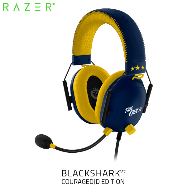 Razer BlackShark V2 軽量 eスポーツ向け ゲーミングヘッドセット USB サウンドカード搭載 CouRageJD Edition RZ04-03230300-R3M1