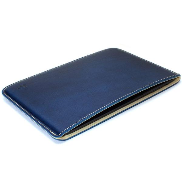 buzzhouse design iPad mini 1〜5 ハンドメイドレザーケース ブルー