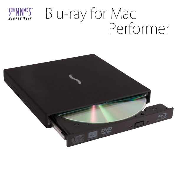 SONNET Performer Blu-Ray Disc Player with Player Software for Mac OS X ブルーレイドライブ