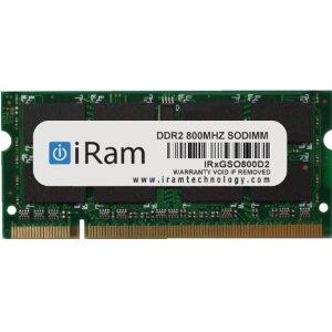 iRam 800MHz DDR2 PC2-6400 1GB SO.DIMM