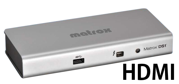 Matrox DS1 HDMI Thunderboltドッキングステーシ