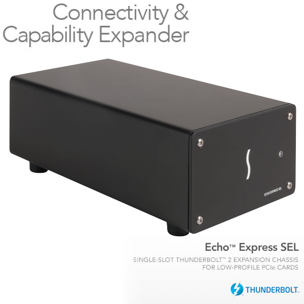 SONNET Echo Express SEL Thunderbolt 2-to-PCIe Expansion Chassis (One low profile slot)