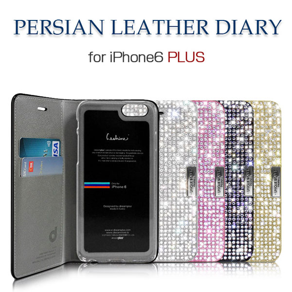 dreamplus iPhone 6 Plus / 6s Plus Persian Leather Diary ブラック