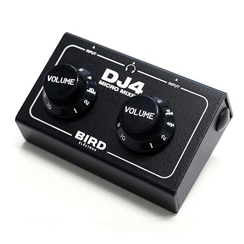 Bird Electron マイクロミキサー DJ4 超小型 サウンドミキサー ブラック