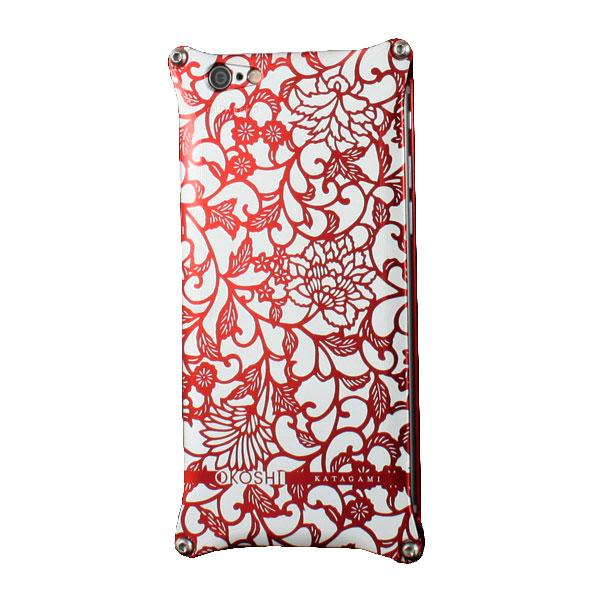GILD design OKOSHI-KATAGAMI アラベスク for iPhone 6 Plus / 6s Plus レッド