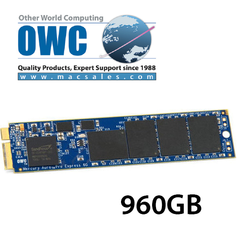 OWC Aura 6G SSD 960GB for MacBook Air 2012 Edition ドライブケース付