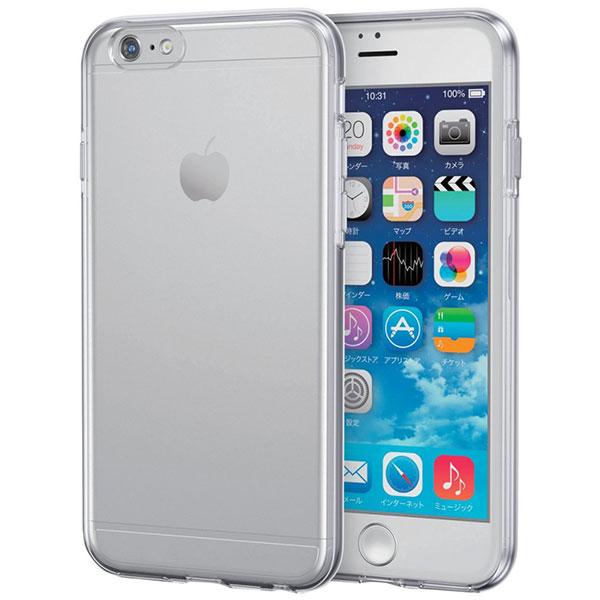 エレコム iPhone 6 / 6s ハイブリッドケース クリア×クリア
