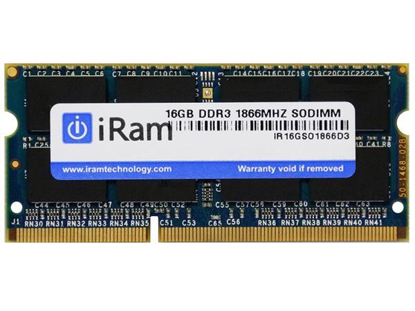 iMac (Retina 5K, 27-inch, Late 2015) メモリー iRam Technology Mac用メモリ PC3-14900 16GB SO-DIMM 204pin