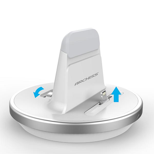 ARCHISS Lightning接続 充電&同期 iPhone  / iPad  / iPod DOCKスタンド i-STAND BY ME ホワイト